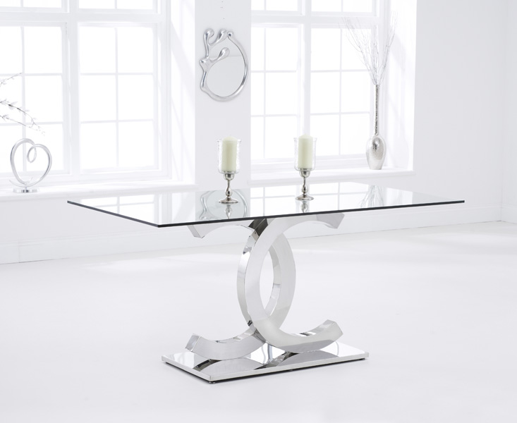 Constance 160cm Glass Dining Table