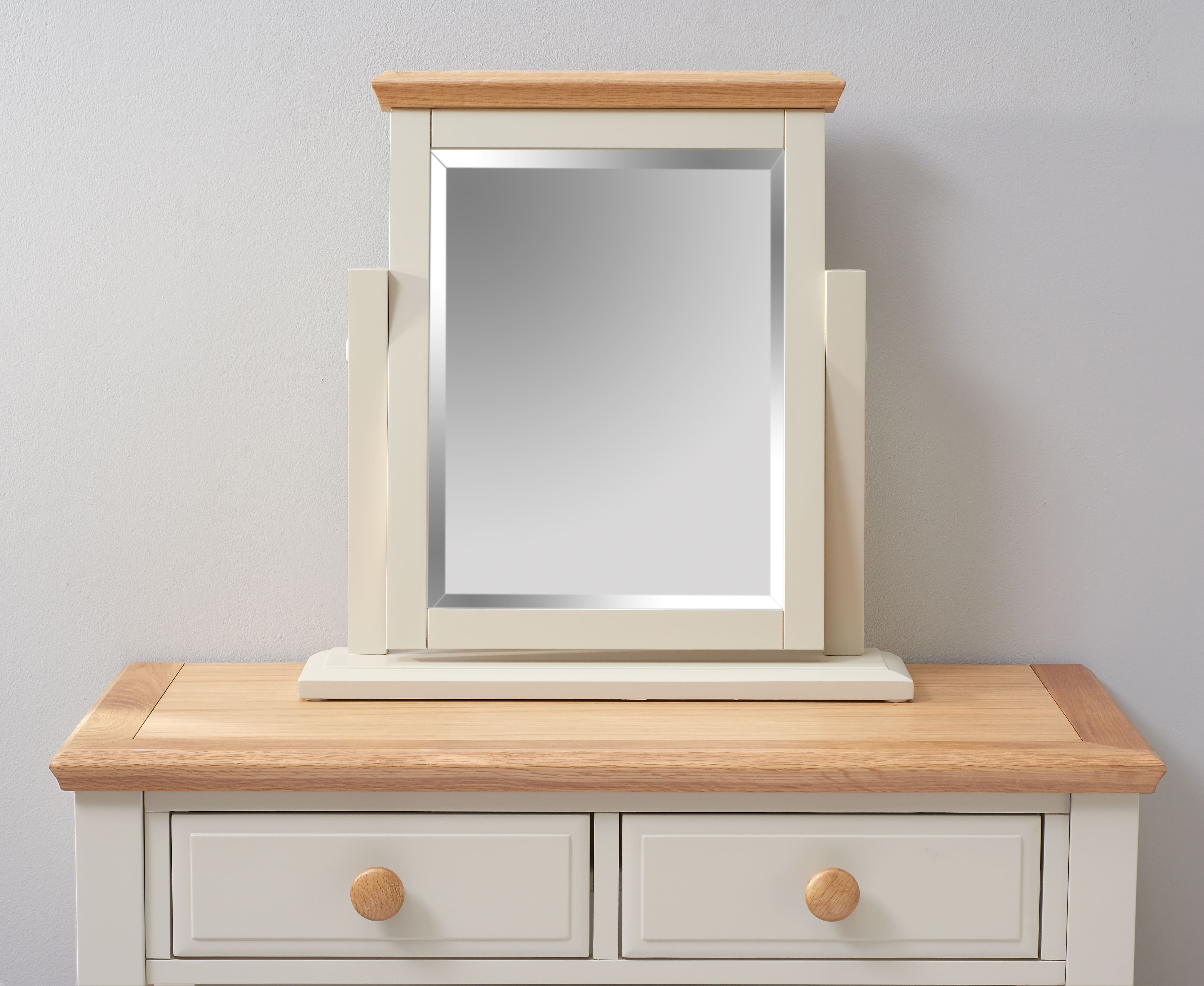 An image of Addison Oak and Stone Painted Trinket Mirror