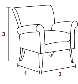 Pacific Chairs Dimensions