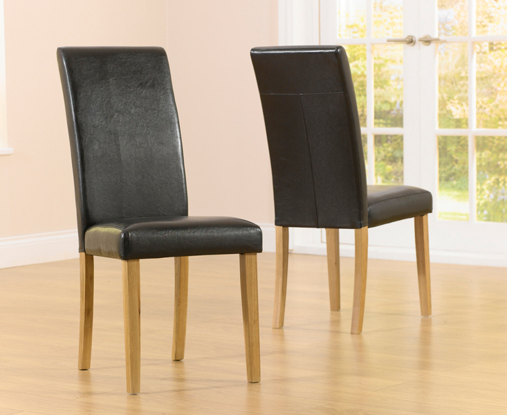 Product photograph showing Albany Brown Chairs Pairs