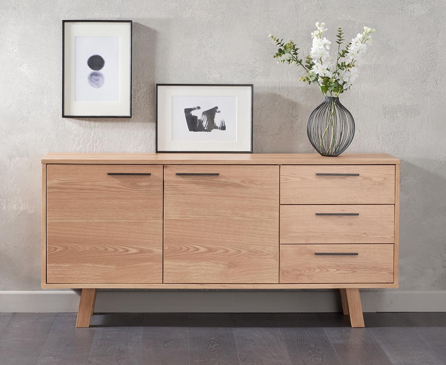 An image of Agata 150cm Oak Sideboard