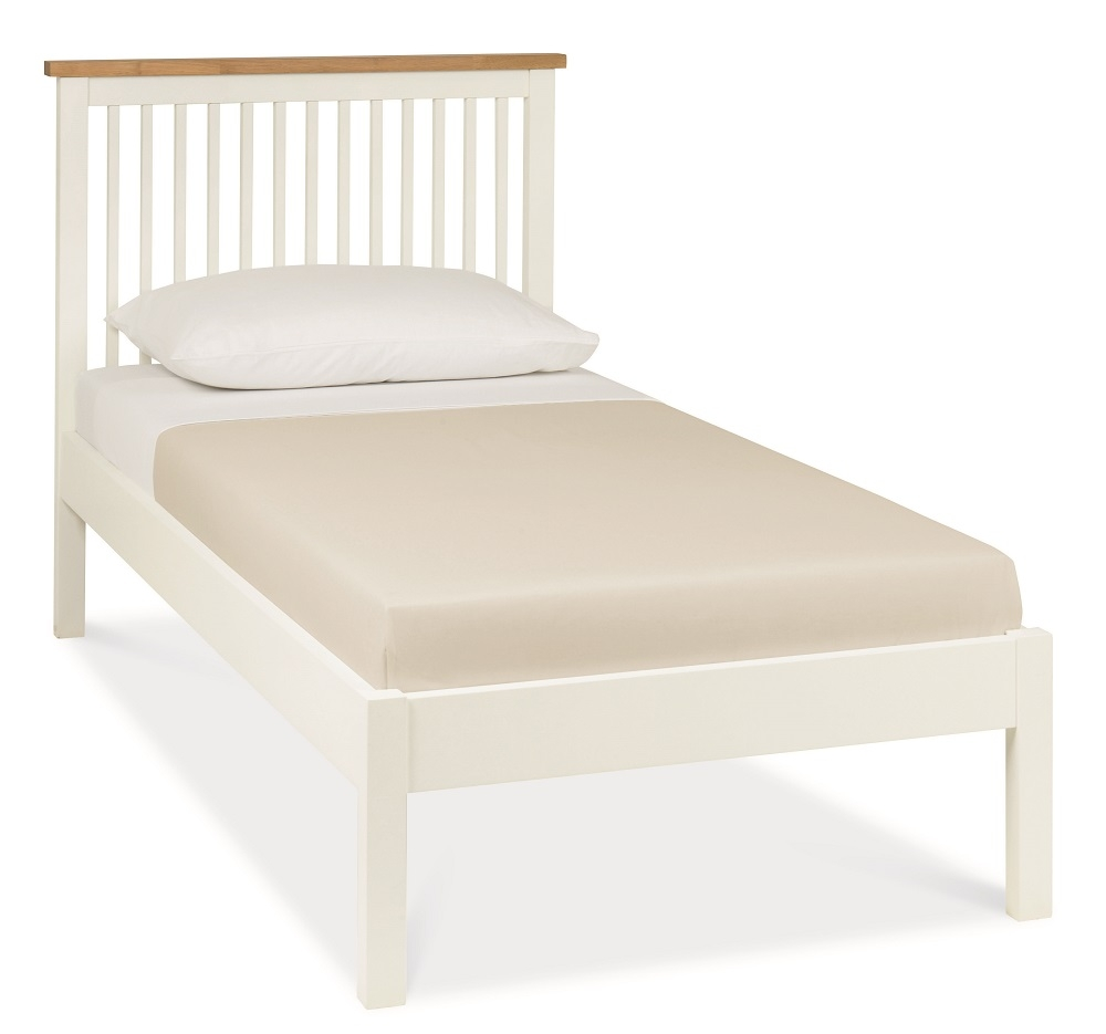 Atlanta Two Tone Low Footend Single Bed with Optional Storage