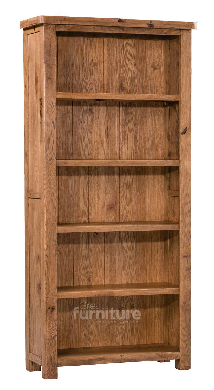 Huari Solid Oak Large Bookcase