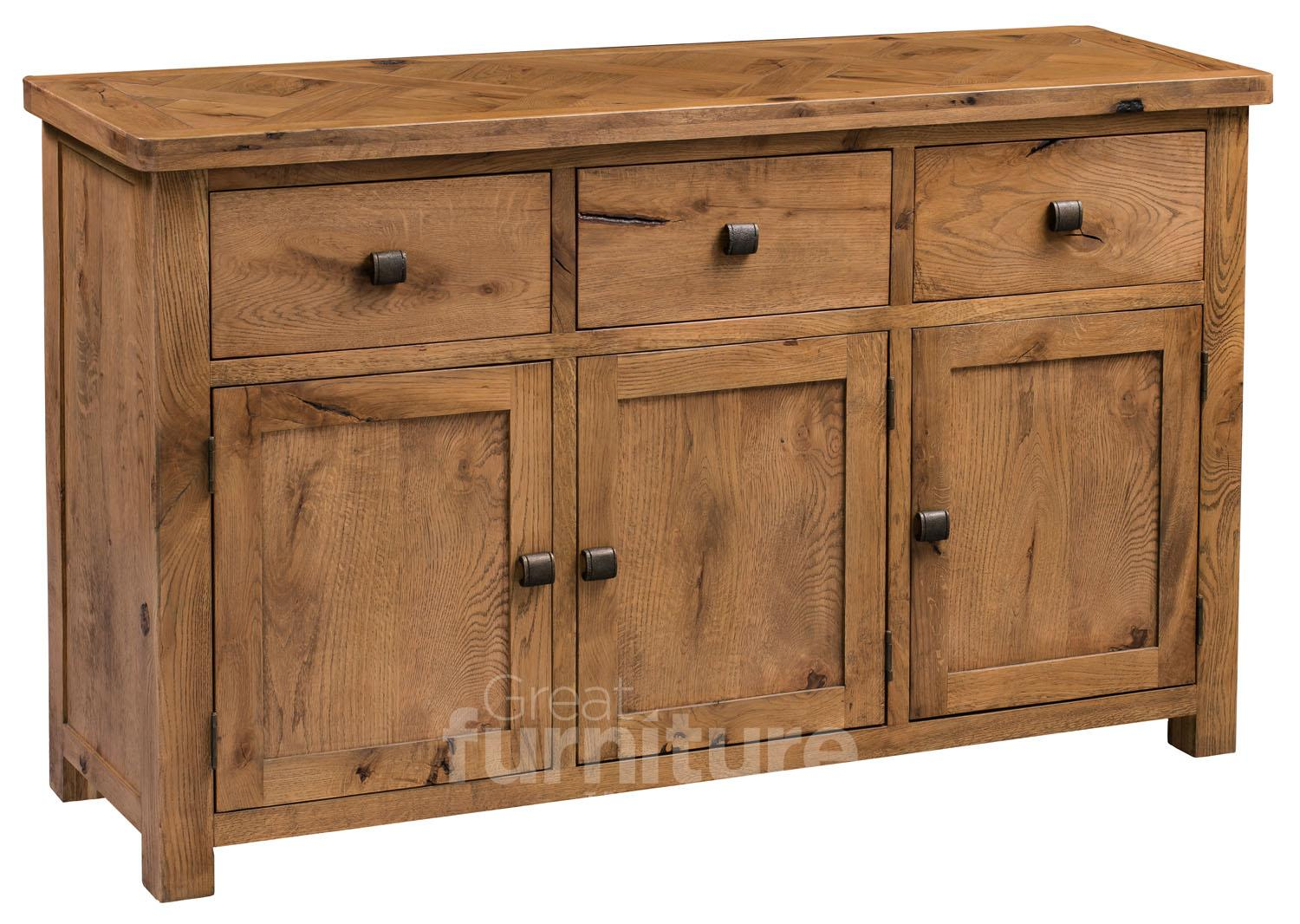 Huari Solid Oak Large Sideboard