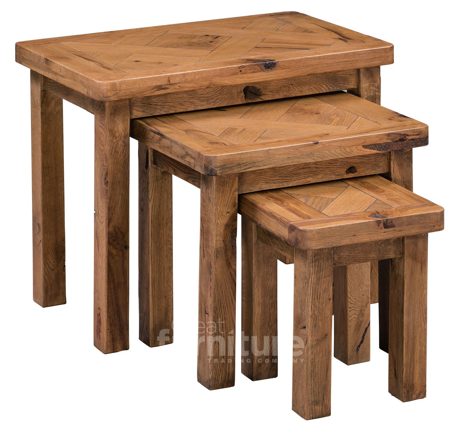 Chunky Nest Of Tables Shop For Cheap Furniture And Save
