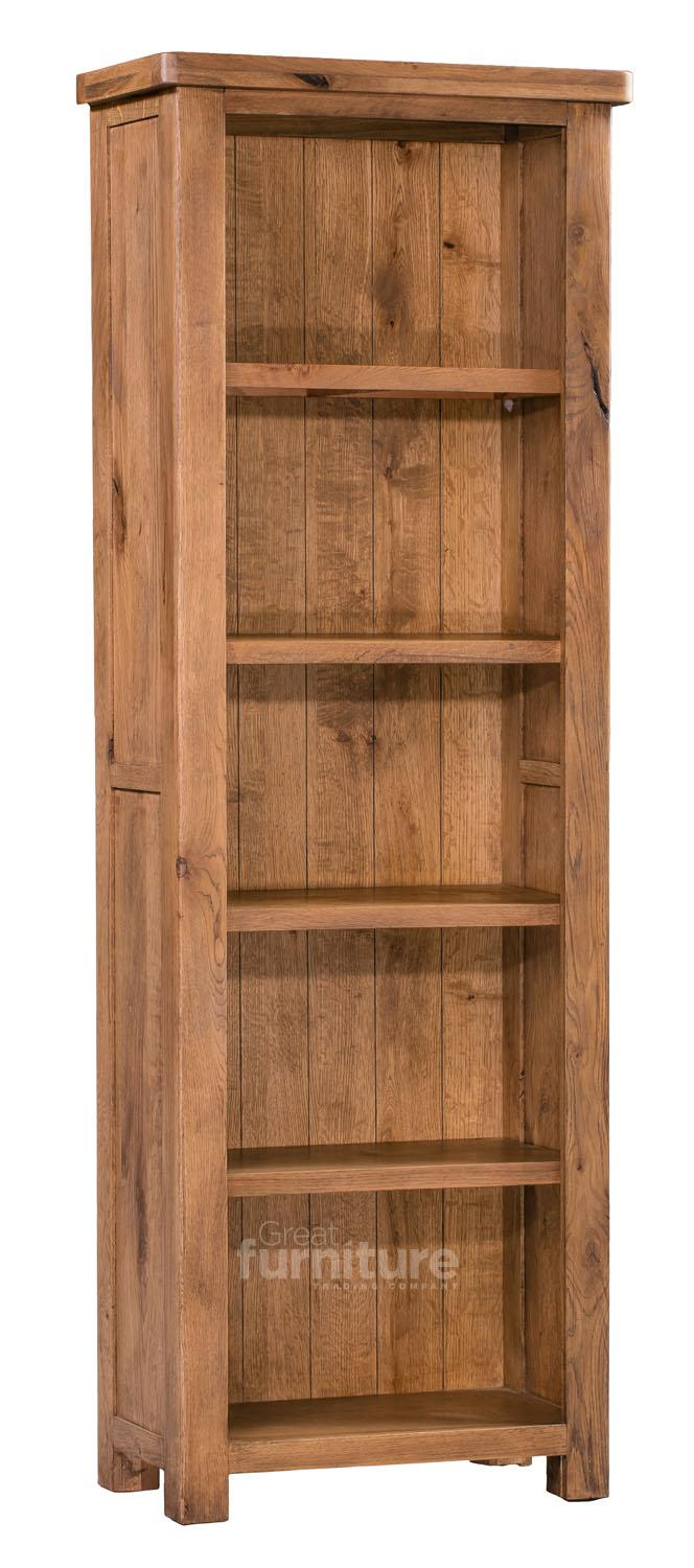 Huari Solid Oak Narrow Bookcase