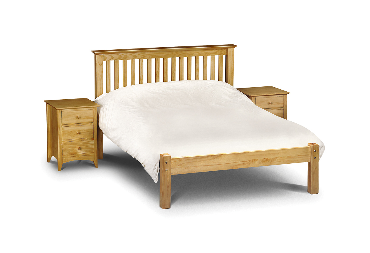 Basel Low Foot End Solid Pine Double Bed