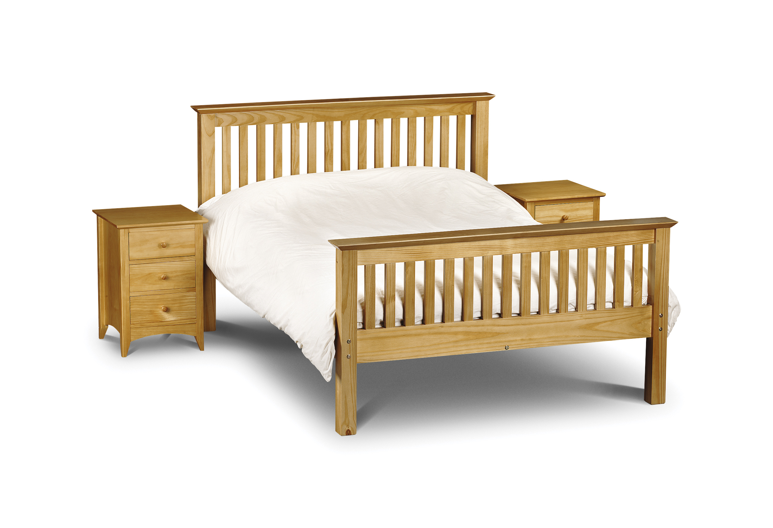 Barcelona High Foot End Solid Pine King Size Bed