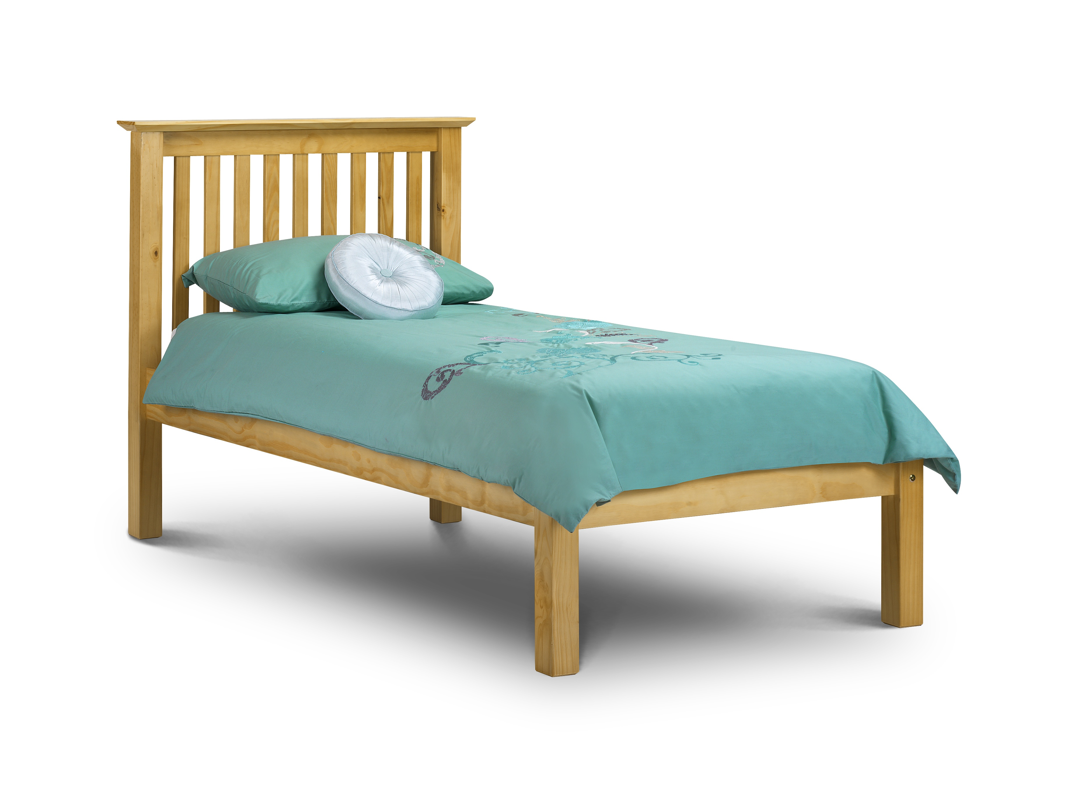Basel Low Foot End Solid Pine Single Bed