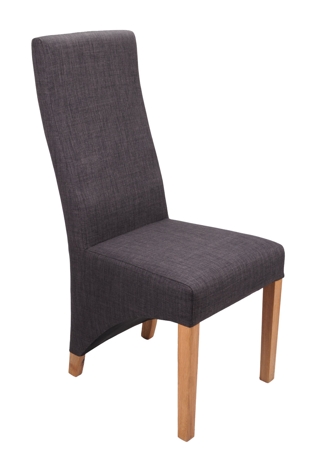 Abella Charcoal Fabric Dining Chairs (Pair)