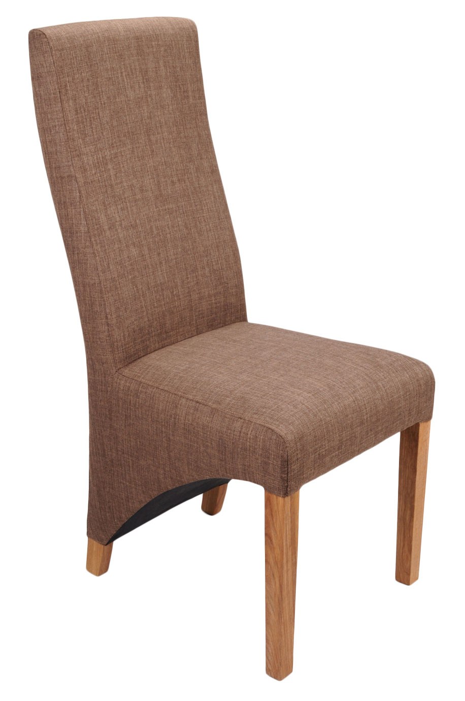 Abella Cinnamon Fabric Dining Chairs (Pair)
