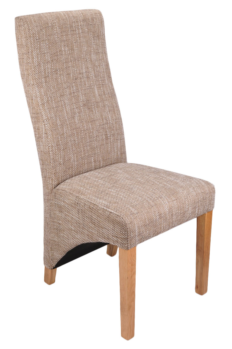 Abella Tweed Fabric Dining Chairs (Pair)