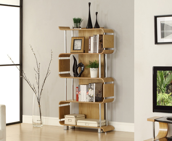 Photo of Curve oak bookcases