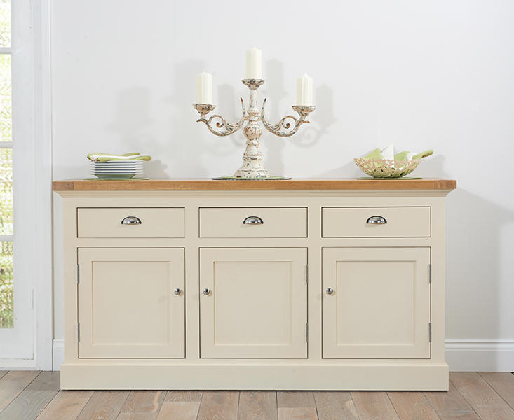 Cavendish/Torino Oak & Cream Large Sideboard