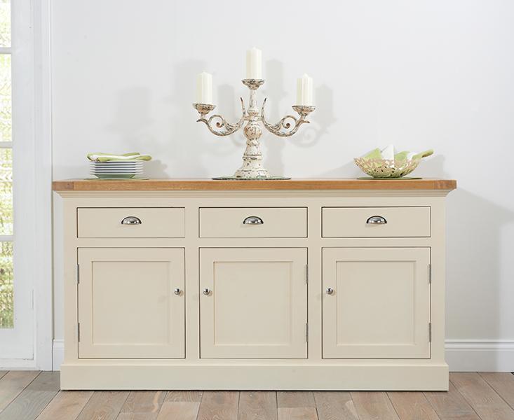 Cavendish/Torino Oak & Cream Large Sideboard