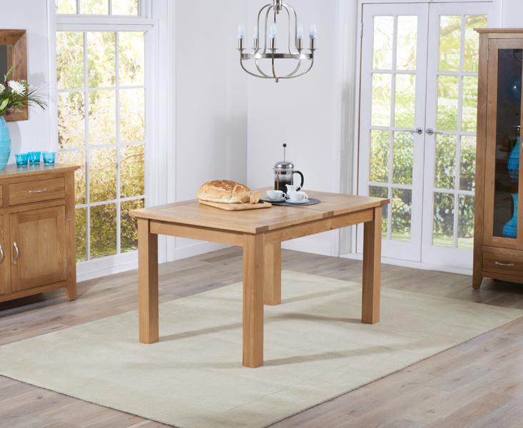 Cheadle 120cm Oak Extending Dining Table