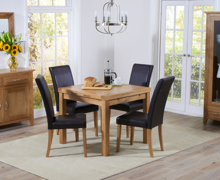 Cheadle 90cm Oak Extending Dining Table with Albany Chairs