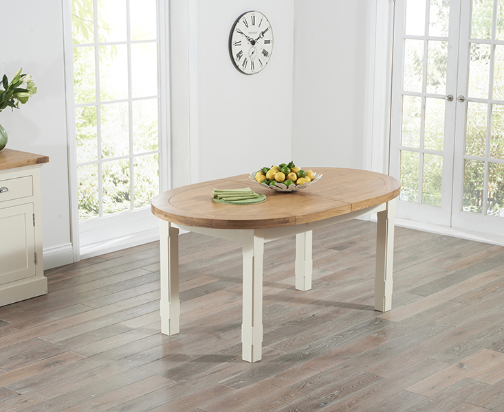 Chelsea Oak and Cream Extending Dining Table