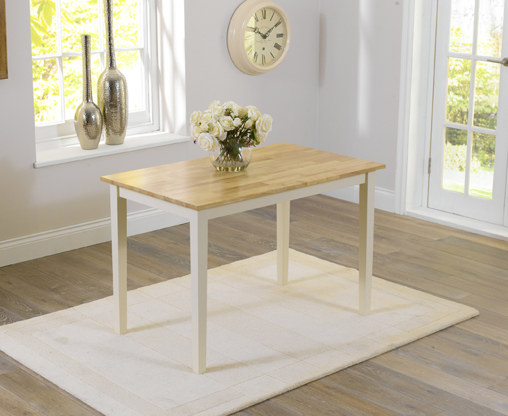 An image of Chiltern 115cm Oak and Cream Dining Table