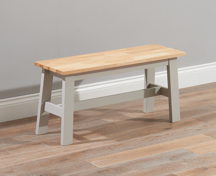 Product photograph showing Chiltern Oak And Grey Bench