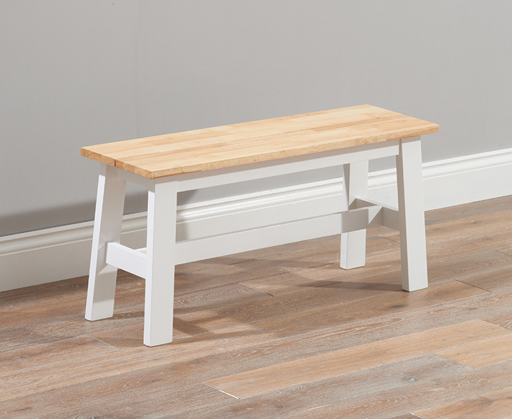 Product photograph showing Chiltern Oak And White Bench