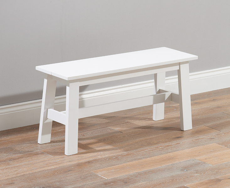 Chiltern White Bench Small Oak Cream Dining Table