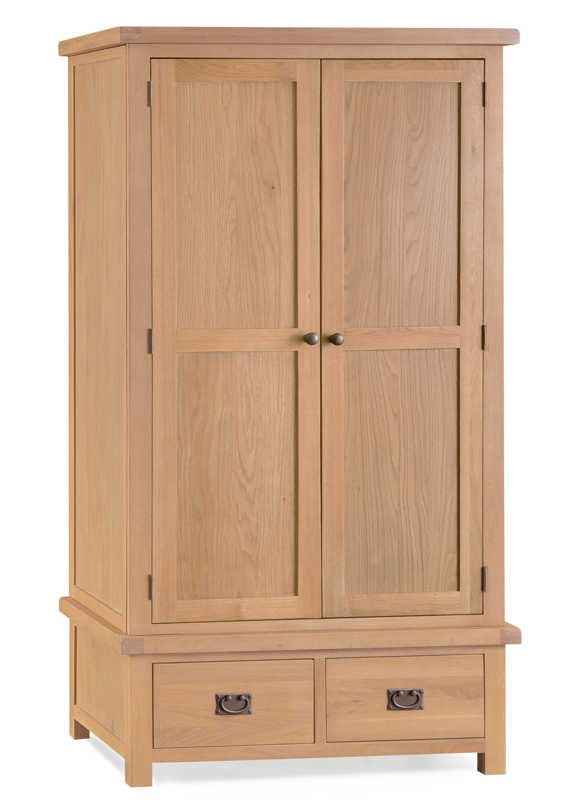 Product photograph showing Sasha Two Door Two Drawer Wardrobe