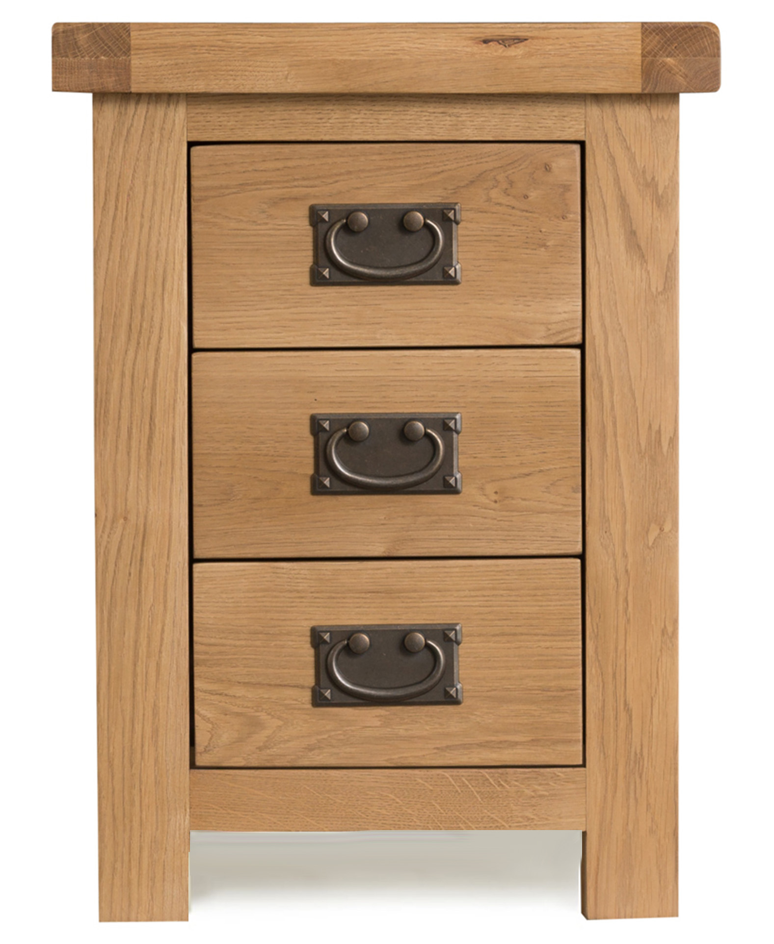 Product photograph showing Sasha 3 Drawer Bedside Table