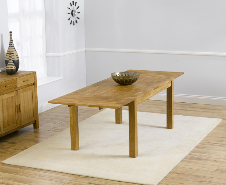 Verona 150cm Solid Oak Extending Dining Table