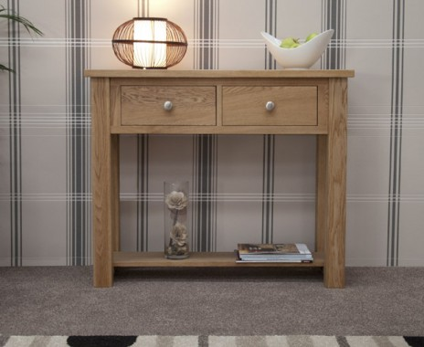 Reno Oak Console Table