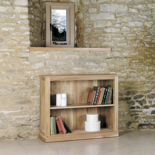 Mobel Solid Oak Low Bookcases
