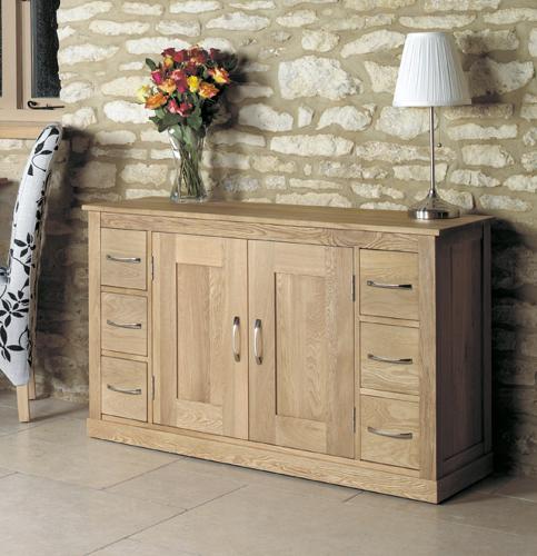 Mobel Solid Oak 6 Drawer Sideboard