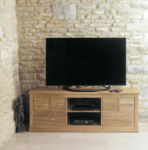 Mobel Solid Oak TV Cabinet