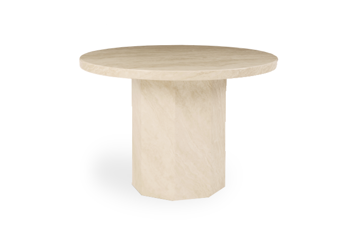 Crema 110cm Round Marble Dining Table