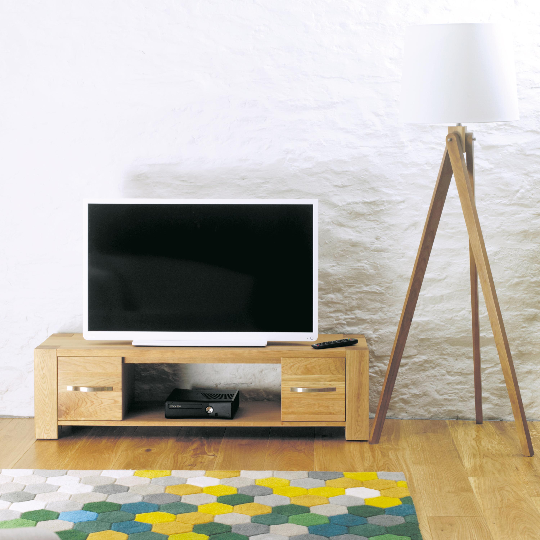 Aston 130cm Oak Widescreen TV Cabinet