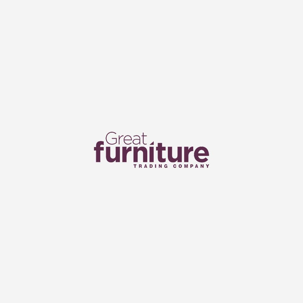 Torino 150cm Dark Solid Oak Round Pedestal Dining Table with Grey Safia Fabric Dark Oak Leg Chairs