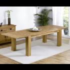 Madrid 200cm Solid Oak Extending Dining Table
