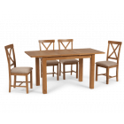 Nelly 120cm Extending Table with Cross Back Chairs