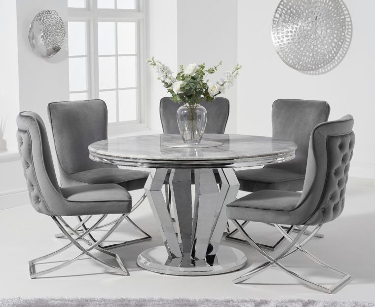 Veneziana 130cm Round Marble Dining, Round Marble Table Dining Set