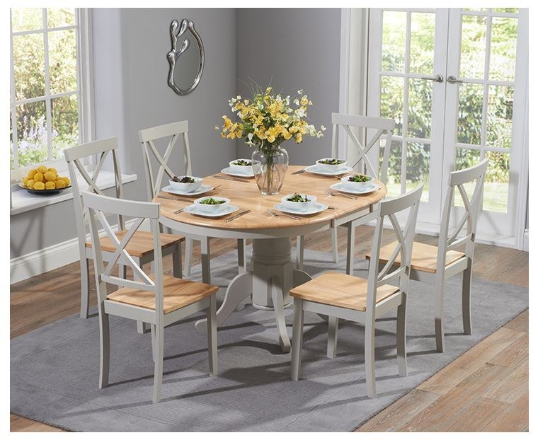 Grey Pedestal Extending Dining Set, Round Extending Oak Dining Table And Chairs