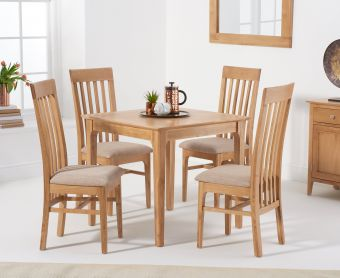 Suri Oak 85cm Table with Chairs