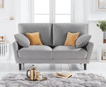 Casa Grey Velvet 2 Seater Sofa