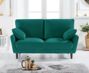 Casa Green Velvet 2 Seater Sofa