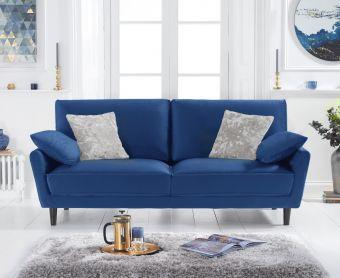 Casa Blue Velvet 3 Seater Sofa