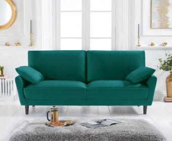 Casa Green Velvet 3 Seater Sofa
