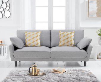 Casa Grey Linen 3 Seater Sofa