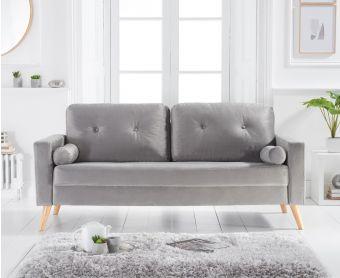 Jennifer Grey Velvet 3 Seater Sofa