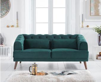 Delilah Green Velvet 2 Seater Sofa