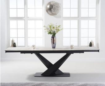 Joshua 180cm Extending White Ceramic Dining Table