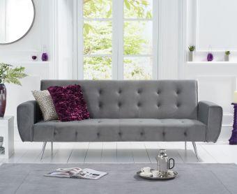Vara Sofa Bed in Grey Velvet
